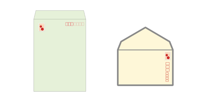 切手の位置