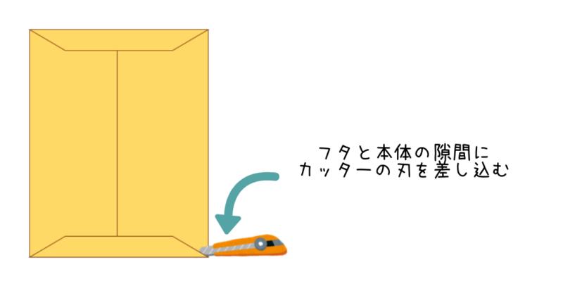封筒の開け方2