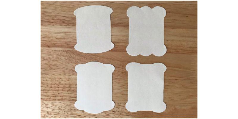 糸巻き台紙の型紙