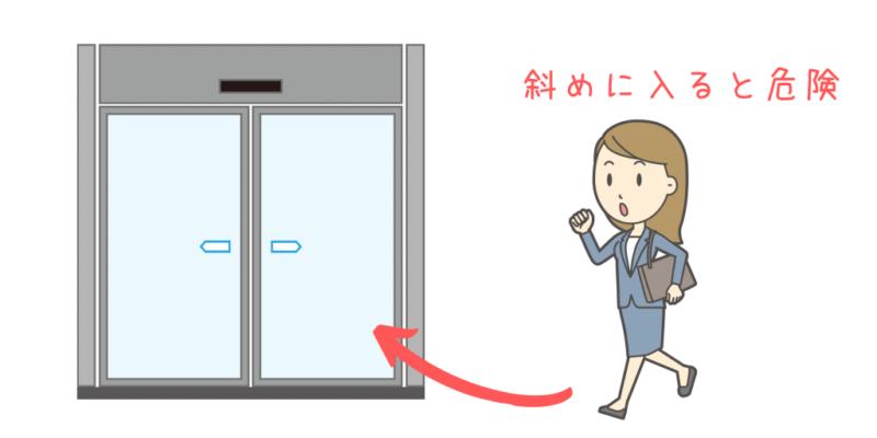 自動ドア注意